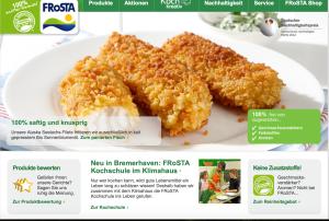 Firmenseite Frosta.de